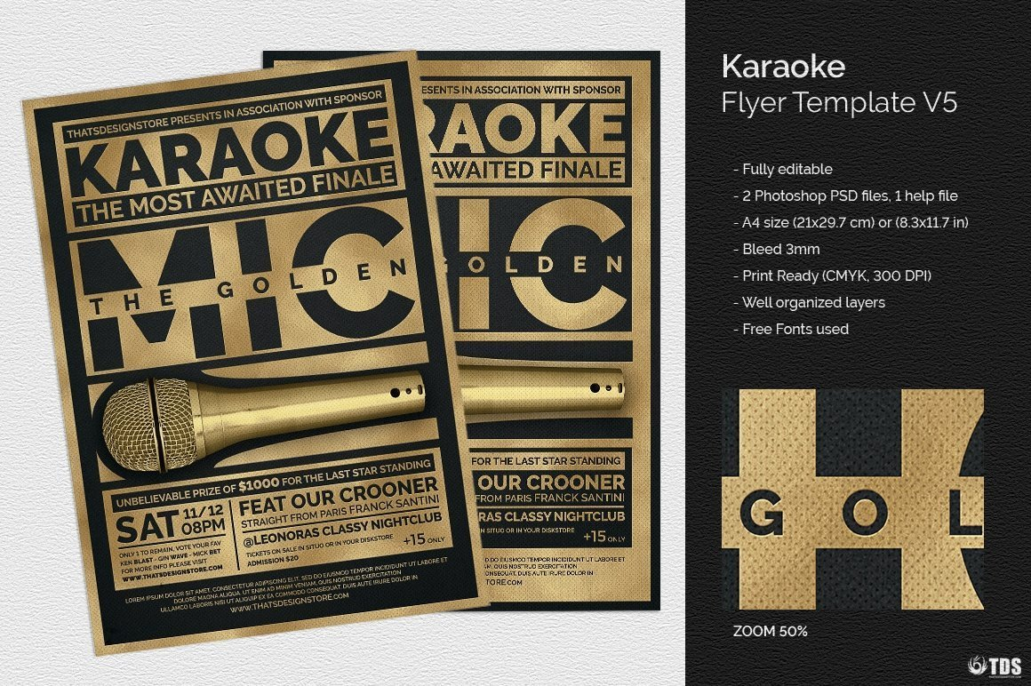 Karaoke Flyer Template V5 Thats Design Store