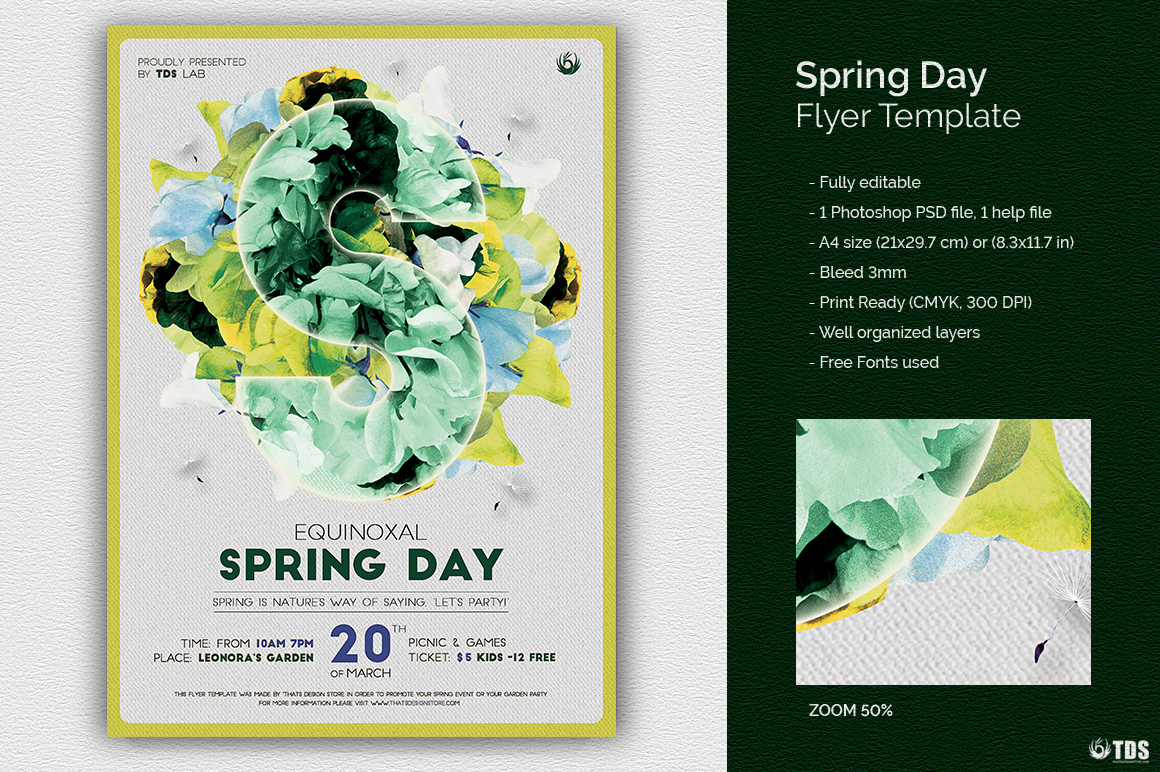 Spring Day Flyer Template