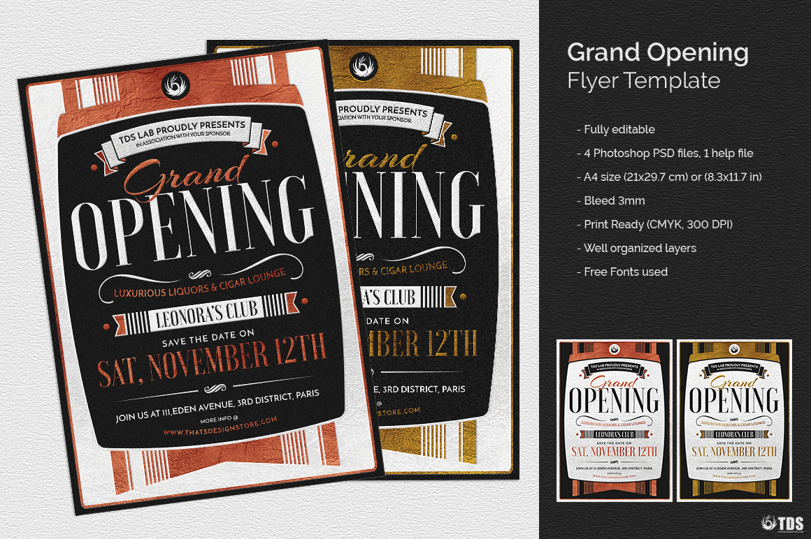 Grand Opening Flyer Template | Thats Design! Store