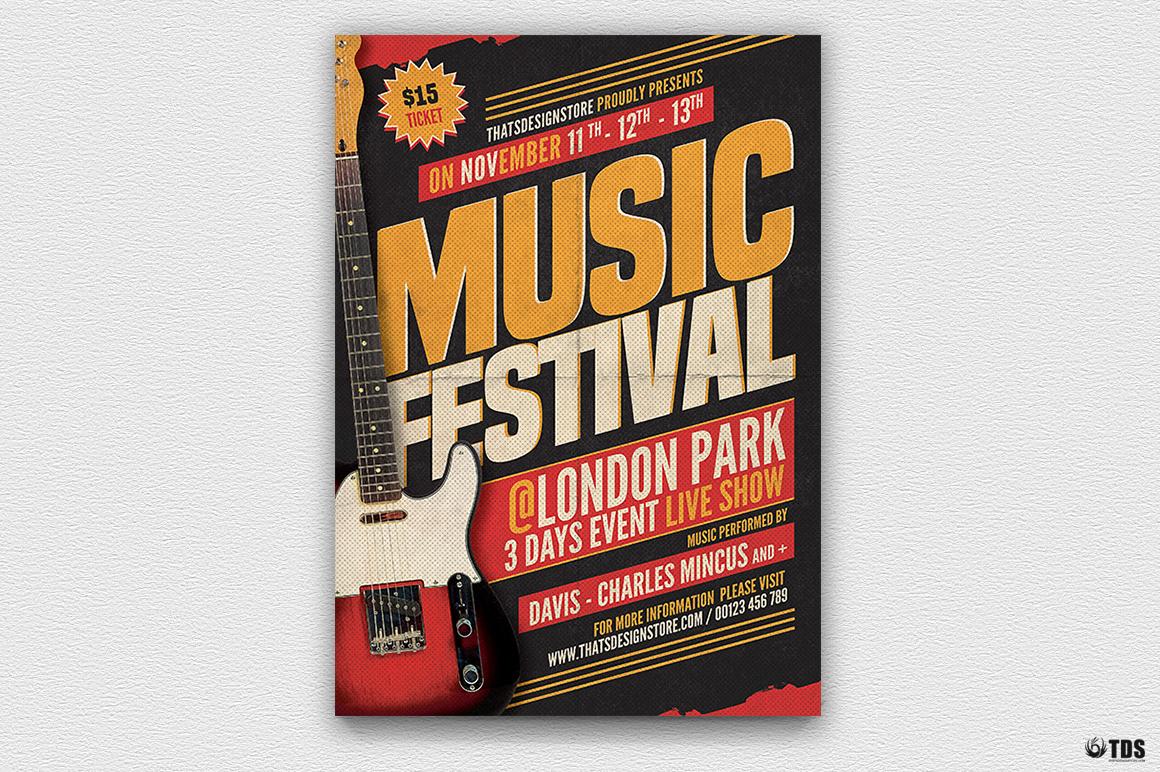 Music Festival Flyer Template V17