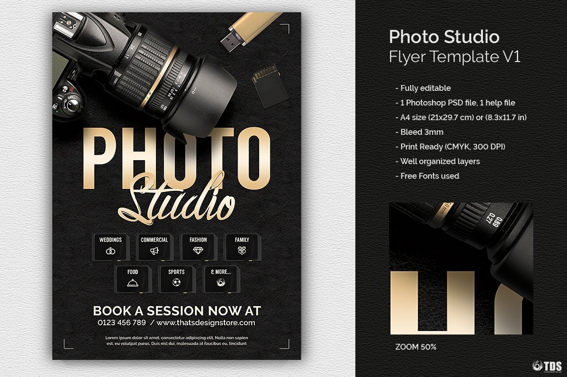 Photo Studio Flyer Template Psd