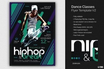 Dance Classes Flyer Template V2
