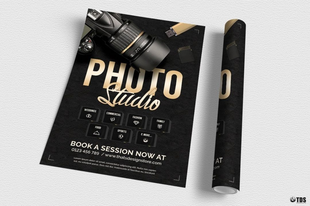 Photo Studio Flyer Template Psd download design for photoshop