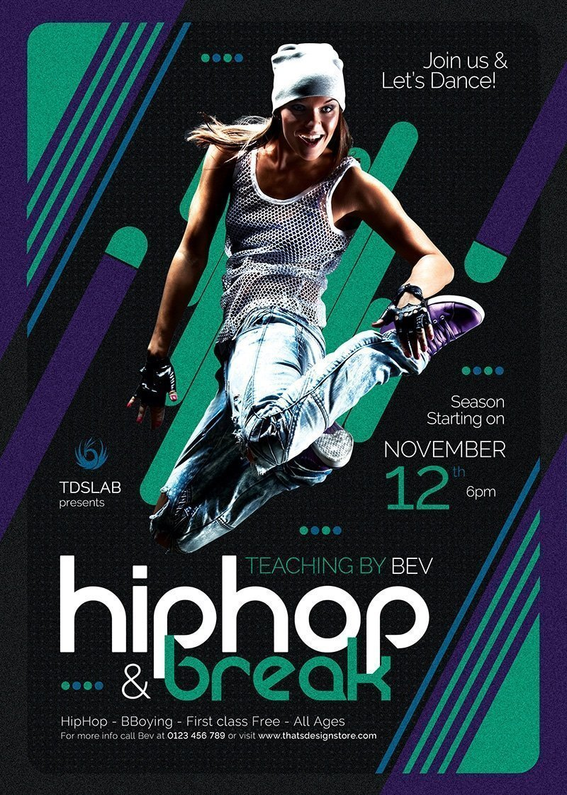 dance classes flyer template v2