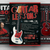 Guitar Lessons Flyer Bundle