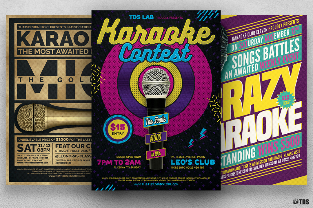 Karaoke Flyer Templates V2