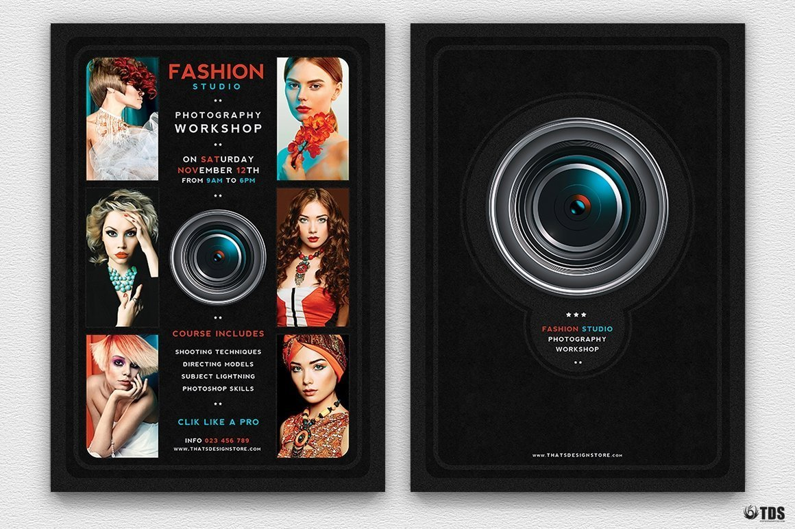 Photography Workshop Flyer Template Psd