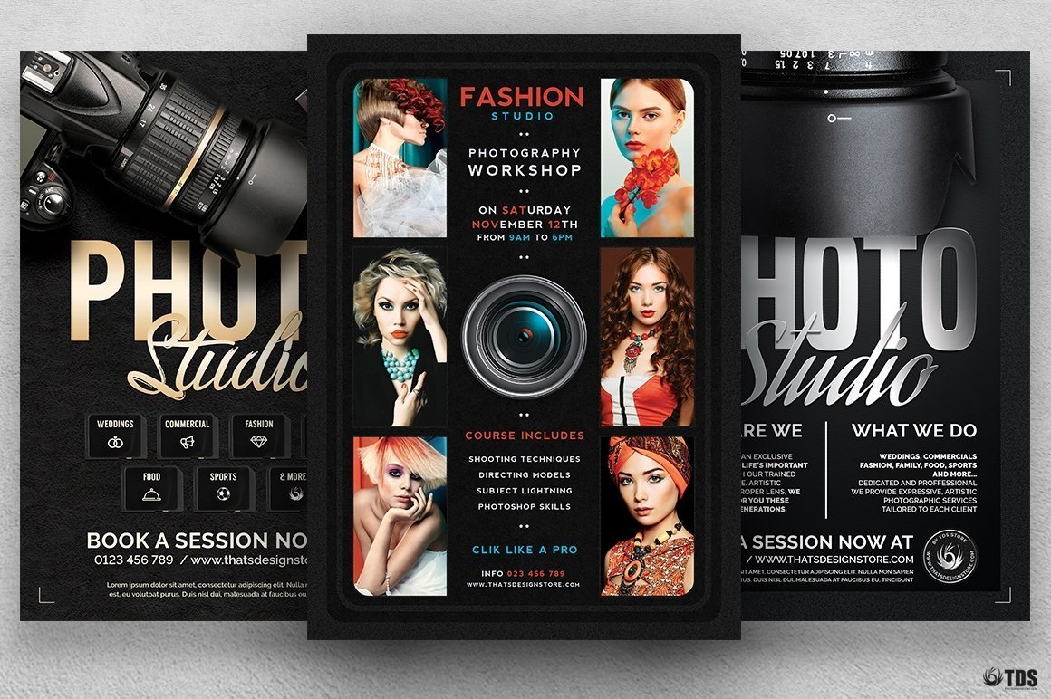 Special Photographer Flyers Bundle Free Posters Design For Photoshop