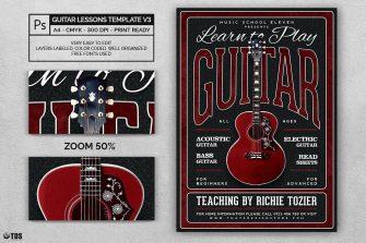 Guitar Lessons Flyer Template V3
