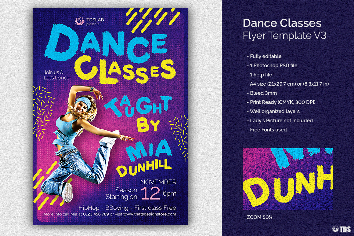 Dance Classes Flyer Template V3