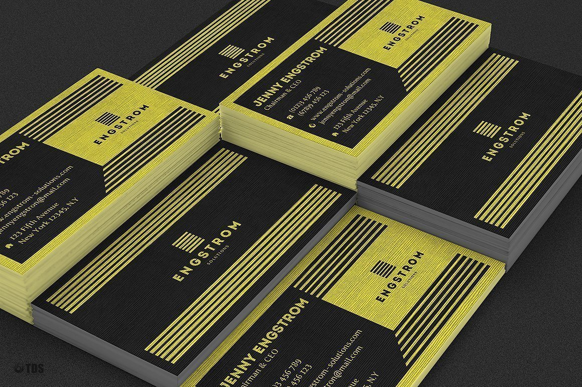 Black and Yellow Corporate Identity psd templates