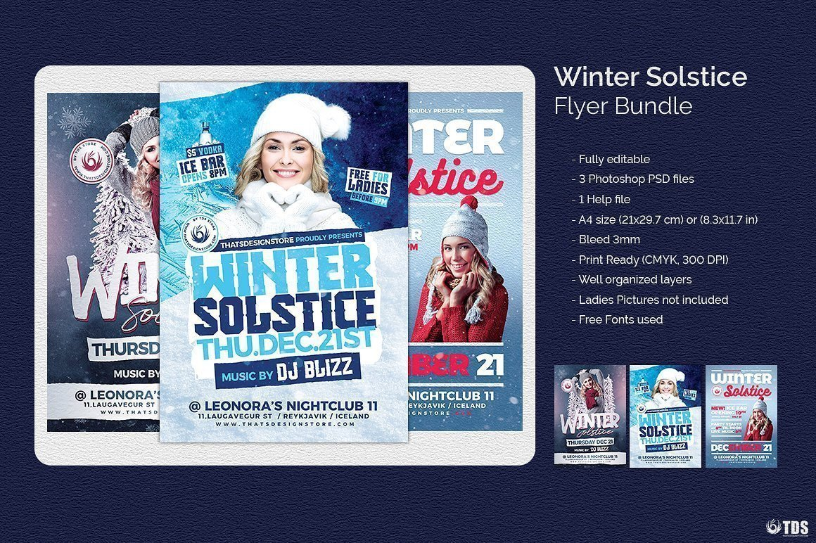 Winter Solstice Flyer Bundle