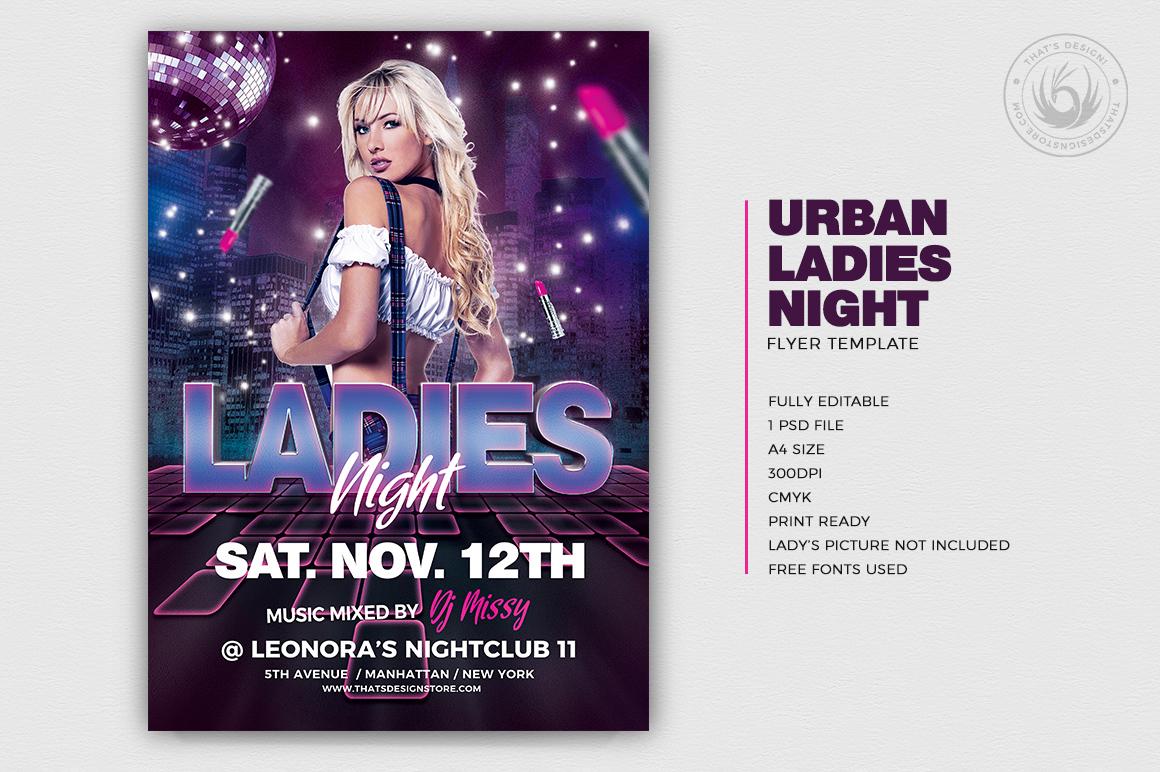 Ladies Night Flyers Template