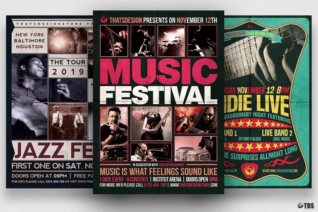 Download Concert Flyer Templates with affordable price.You can customizein Photoshop so you'll save your time and your money creating amazing Premium live band Flyers.