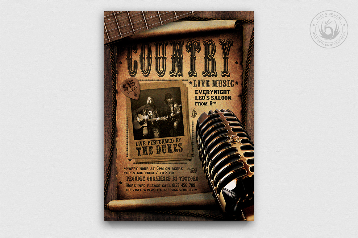 Country Live Flyer Template V5