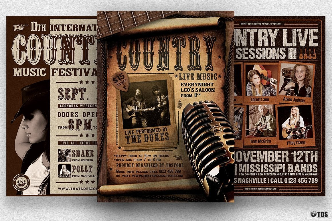 Country Music Flyer Bundle