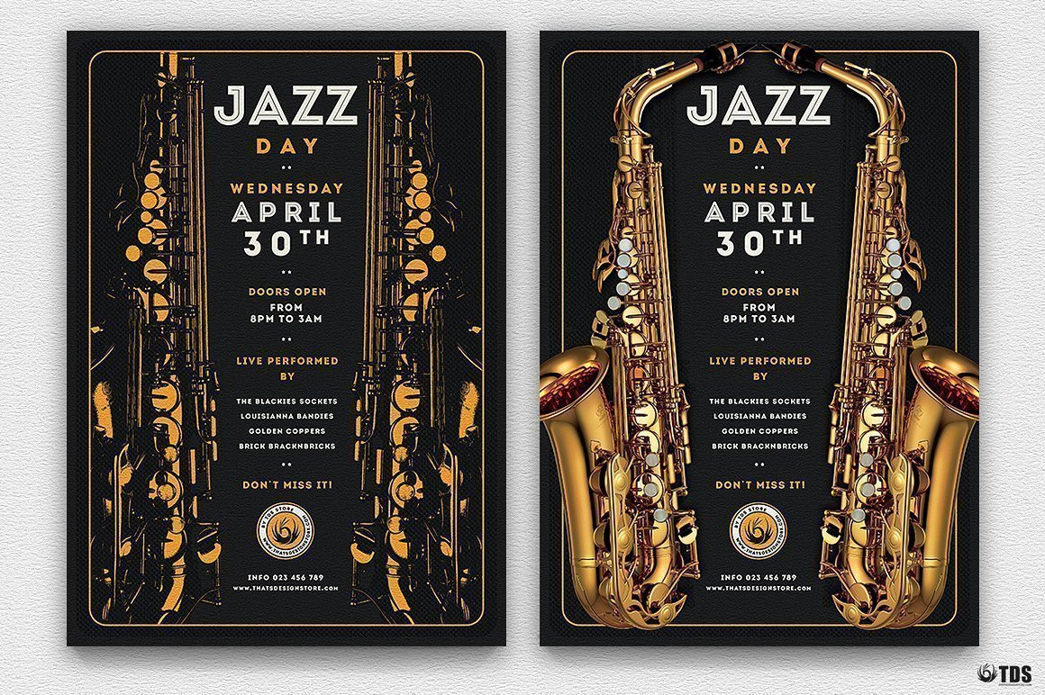 Jazz Day Flyer Template V2