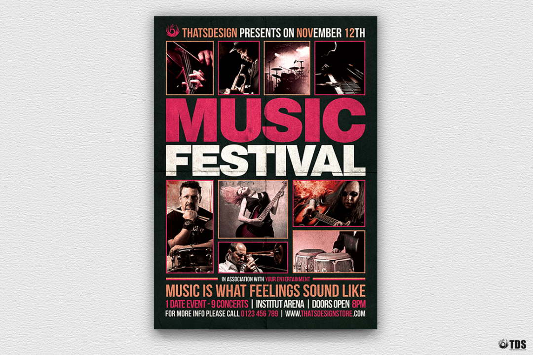 Music Festival Flyer Template V18