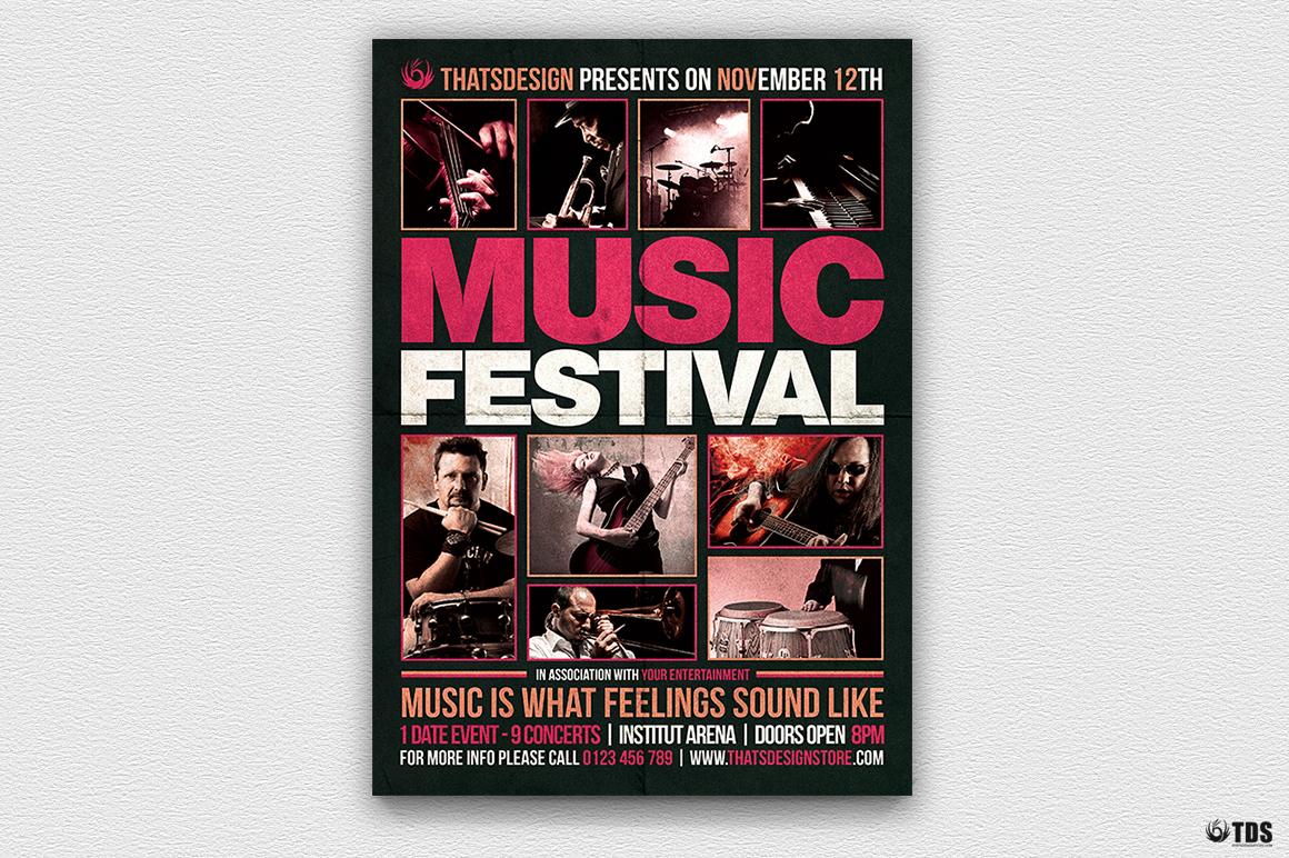 Music Festival Flyer Template V18