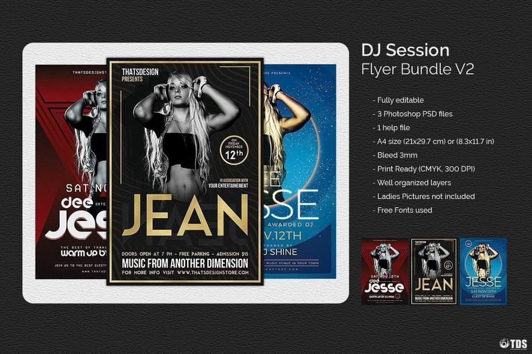 Dj Session Flyer Bundle V2