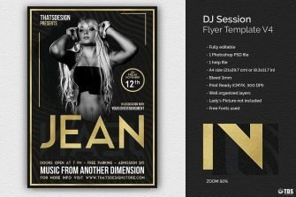Dj Session Flyer Template V4