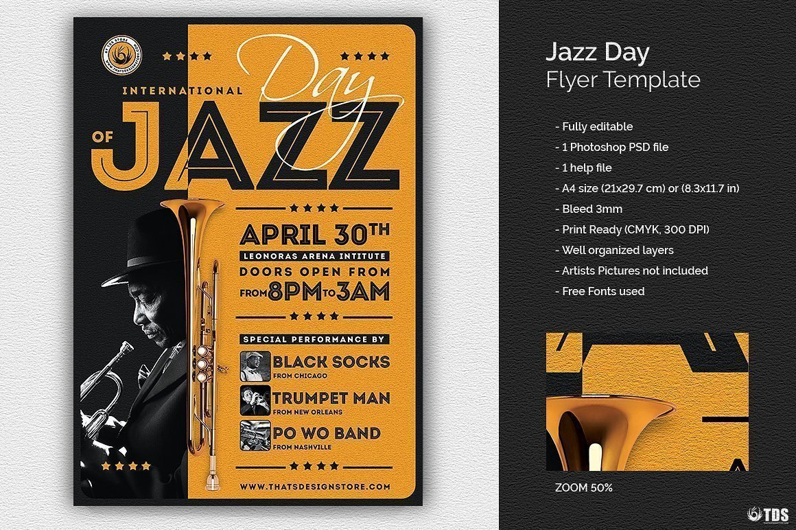Jazz Day Flyer Template