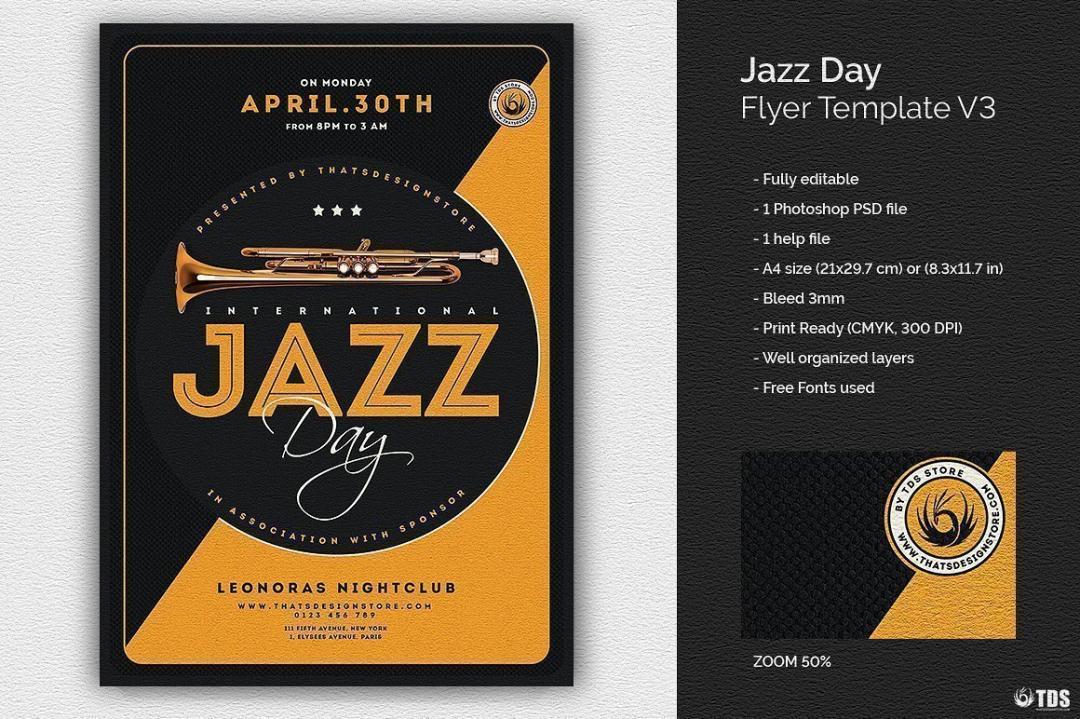 Jazz Day Flyer Template V3