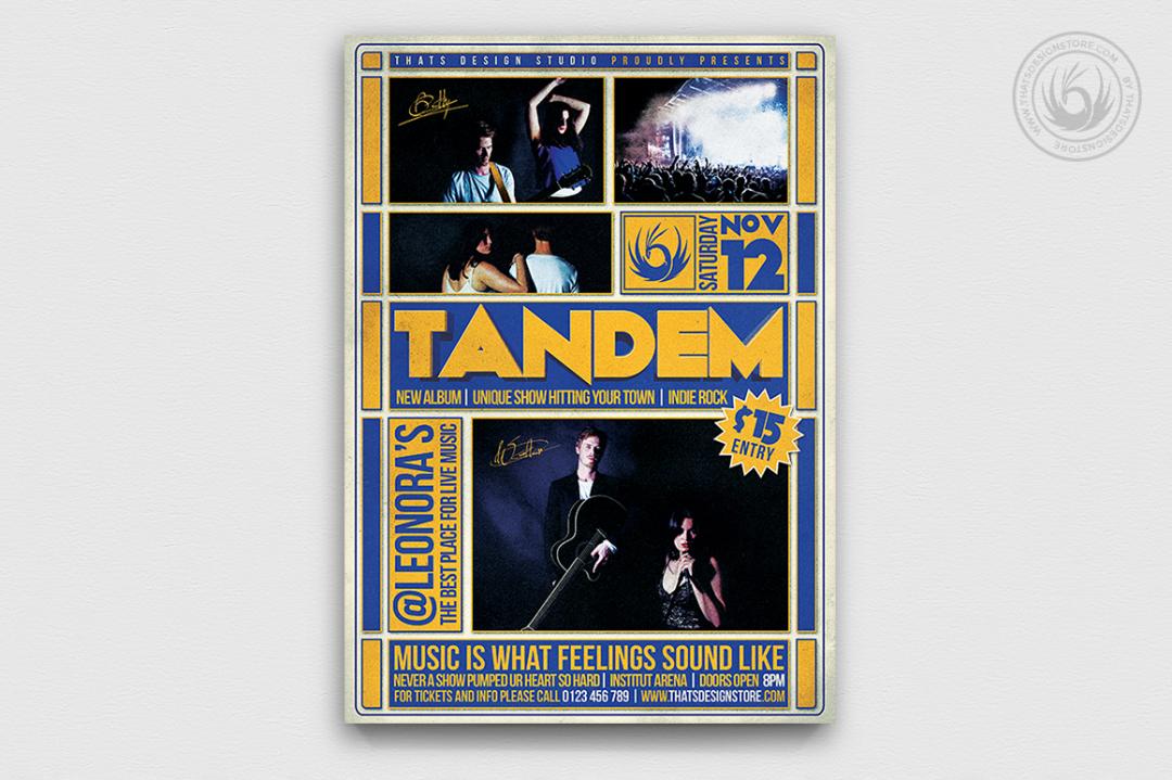 Live concert Flyer Template psd V12