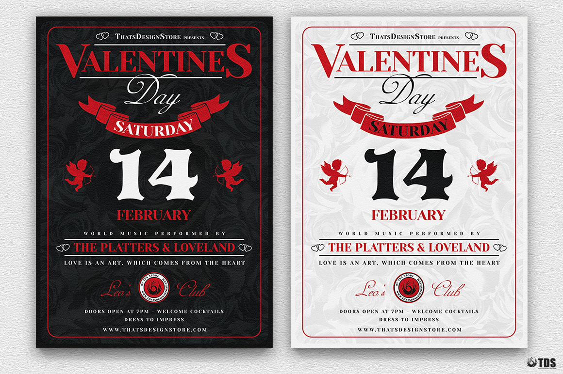 Valentine's Day Flyer Template V12 Psd download to customize with photoshop