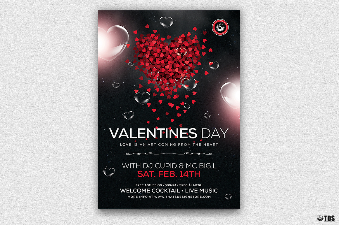 Valentines Day Flyer Template V14 Thats Design Store
