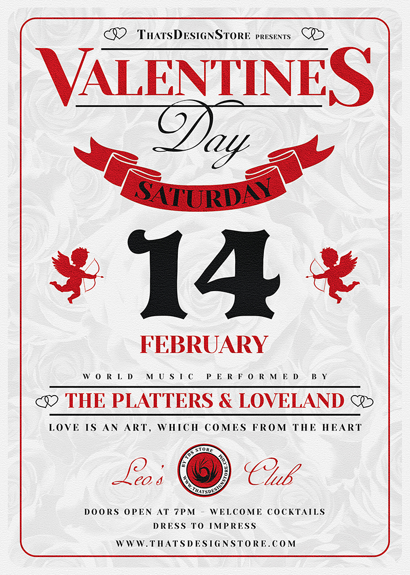 Valentine's Day Flyer Template V12