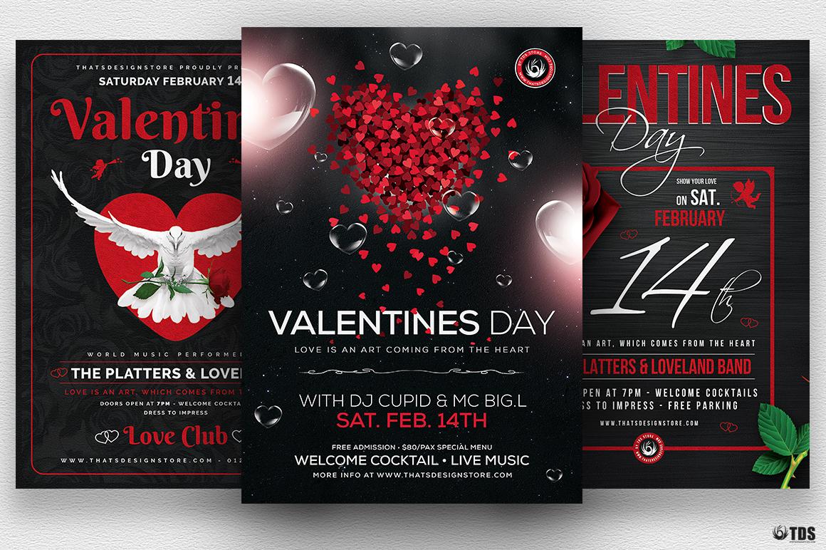 Valentines Day Flyer Bundle V2 Thats Design Store
