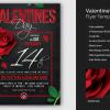 Valentine's Day Flyer Template psd download V15