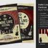 Indie Live Festival Flyer Template V2
