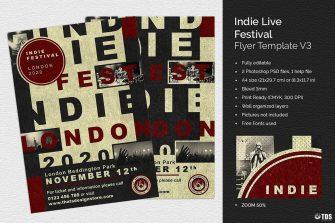 Indie Live Festival Flyer Template V3
