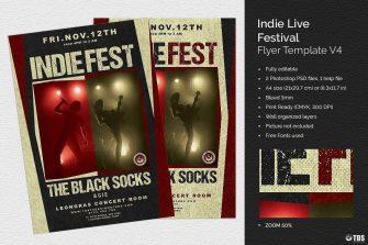Indie Live Festival Flyer Template V4
