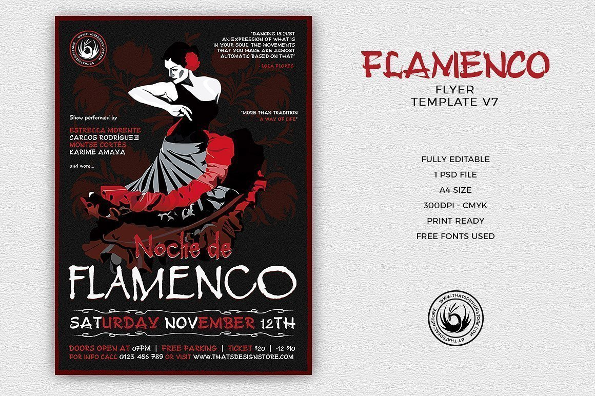 Flamenco Flyer Template V7
