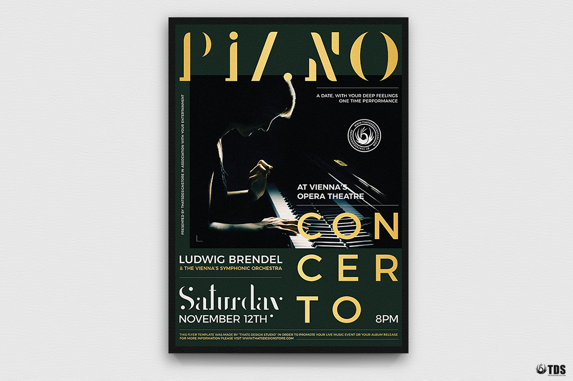 Piano Concerto Flyer Template V3