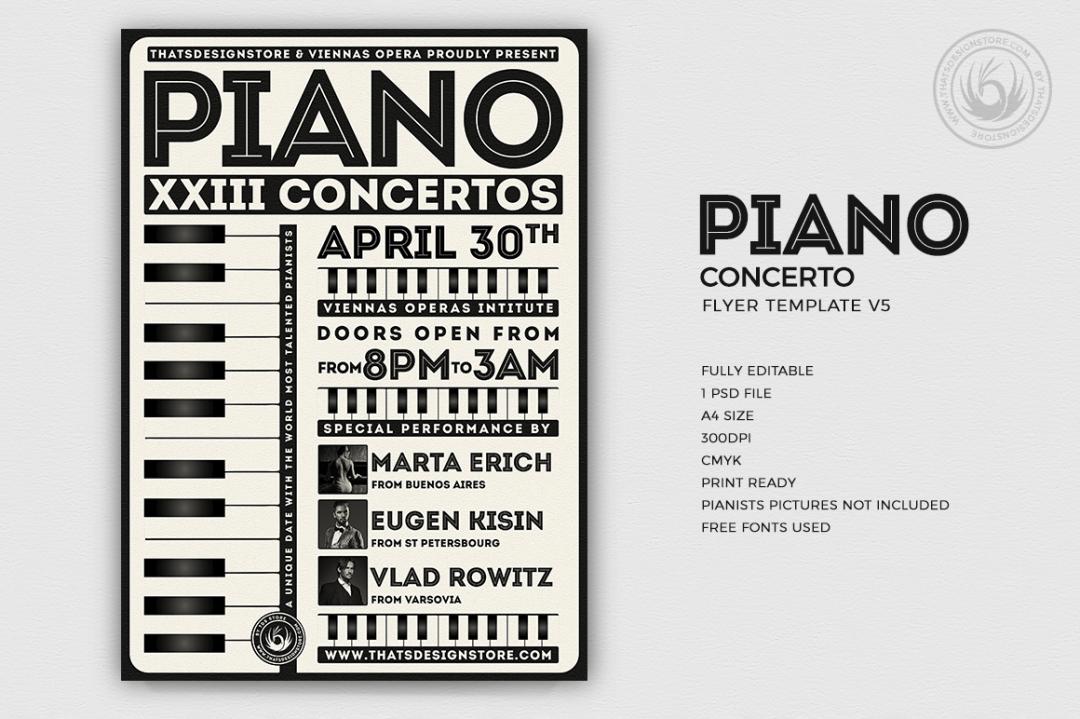 Piano Concerto Flyer Template V5