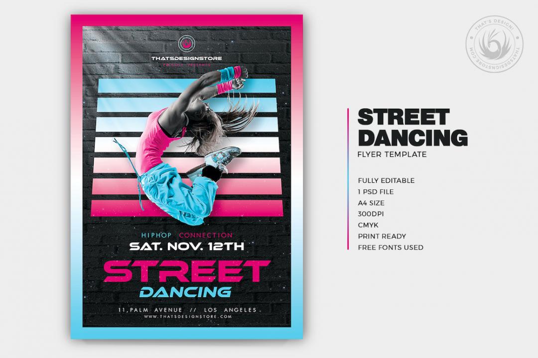 Street Dancing Flyer Template