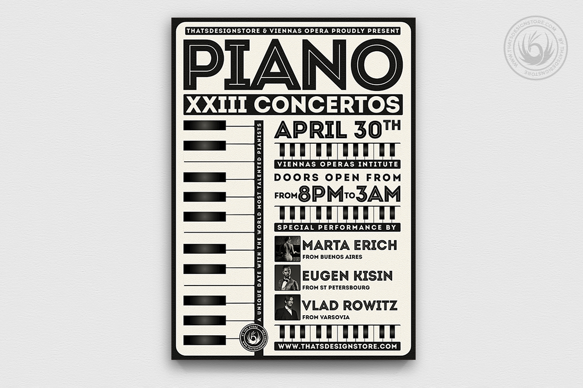 Piano Concerto Flyer Template V5
