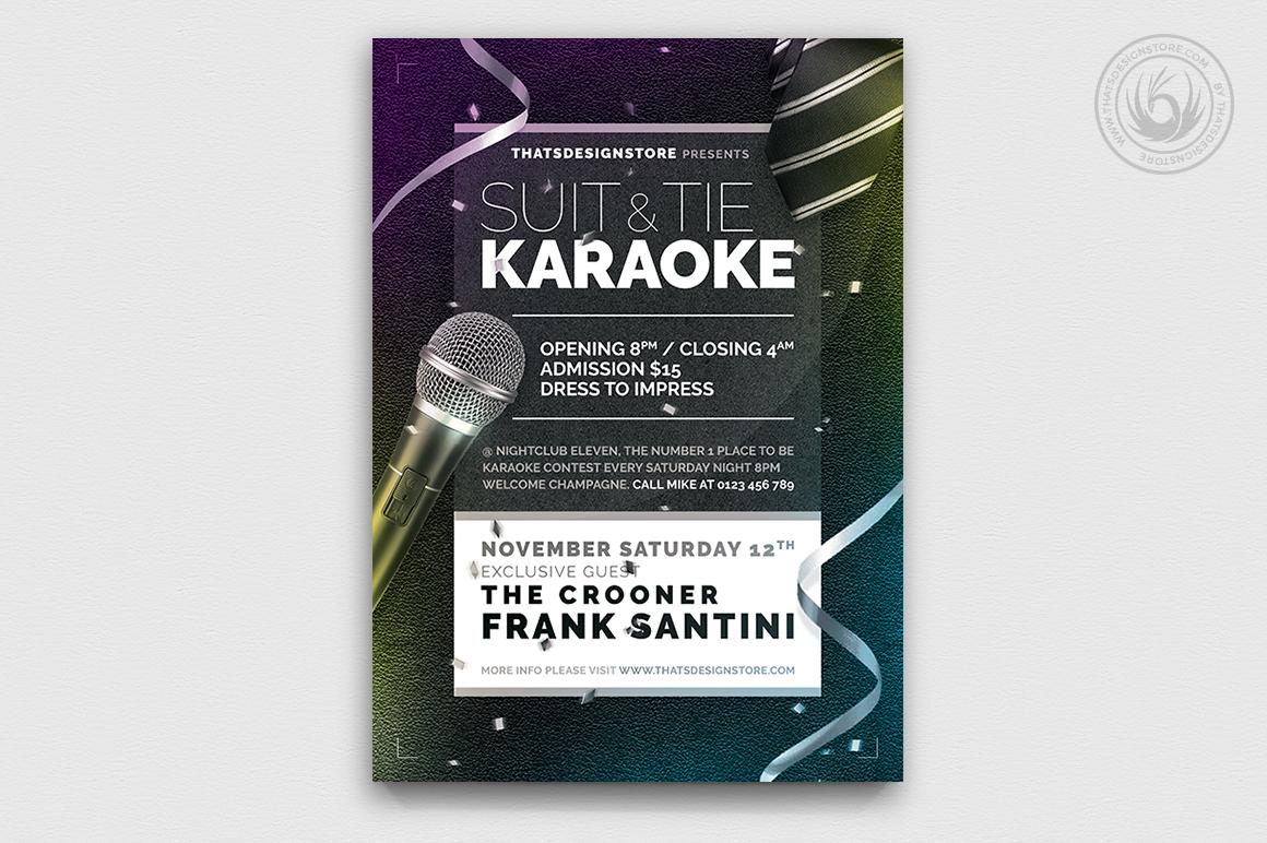 Classy Karaoke Flyer Template Psd