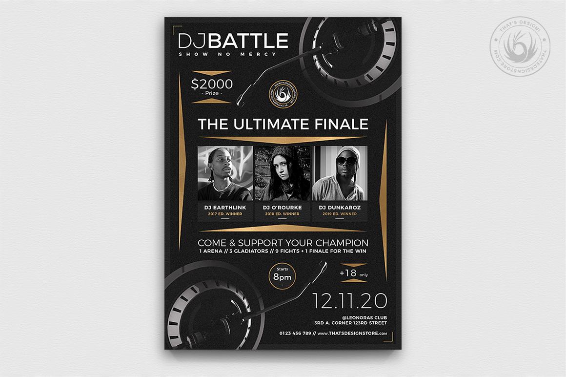Dj Battle Flyer Template PSD download V6