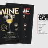 Wine Tasting Flyer Template PSD download V2