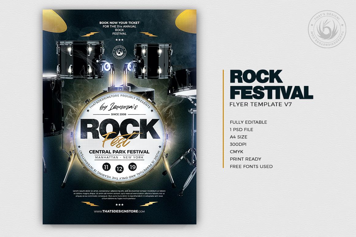 Rock Festival Flyer Template PSD Download V8