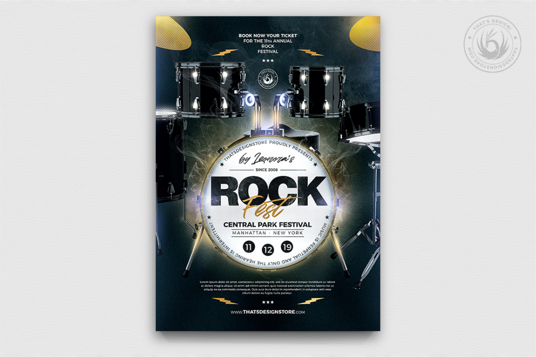 Rock Festival Flyer Template PSD Download V8