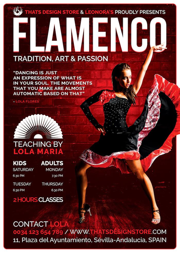 Flamenco Music Flyer Psd Template V3