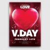Valentine's Day Flyer Template psd download V21