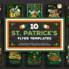 St Patricks day flyer templates, Saint patrick's Day flyer templates affordable bundle