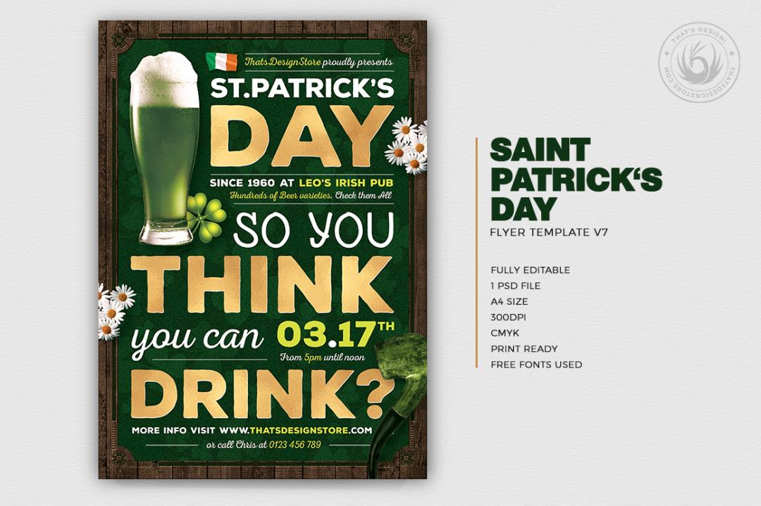 Saint Patricks Day Flyer Template V7